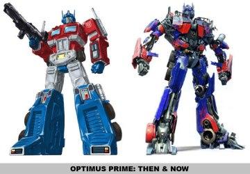 Transformers' Optimus Prime: 1984 and 2009