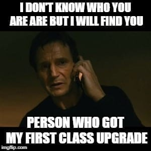 Didn't get the Upgrade Business Travel Meme