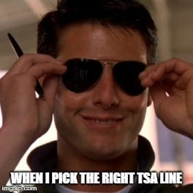 Picking the right TSA Line Travel Meme