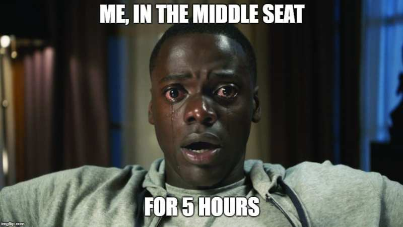 The Middle Seat Travel meme