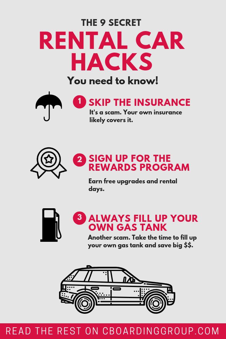 9 secret rental car hacks to know