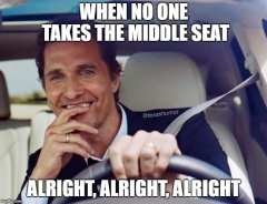 When No One Takes the Middle Seat