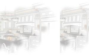 sketch of inside a home