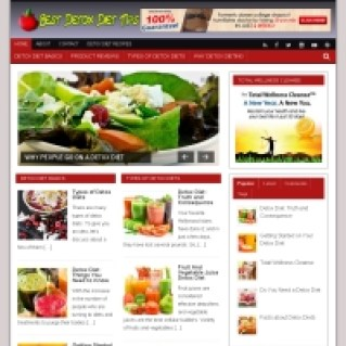 Image showing CBProAds' body detox niche storefront of fruits and vegetables to achieve that