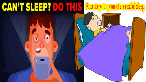 Four simple steps to promote a more restful sleep