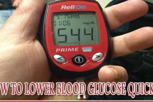 How to lower blood glucose quickly