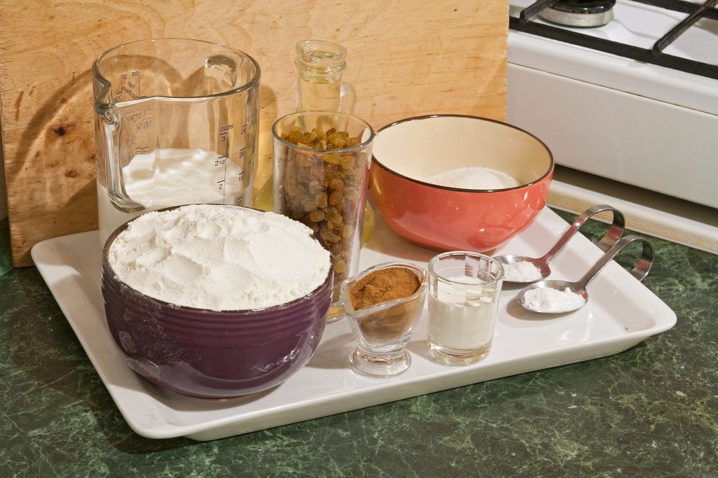 Preparing the ingredients for easy cinnamon rolls