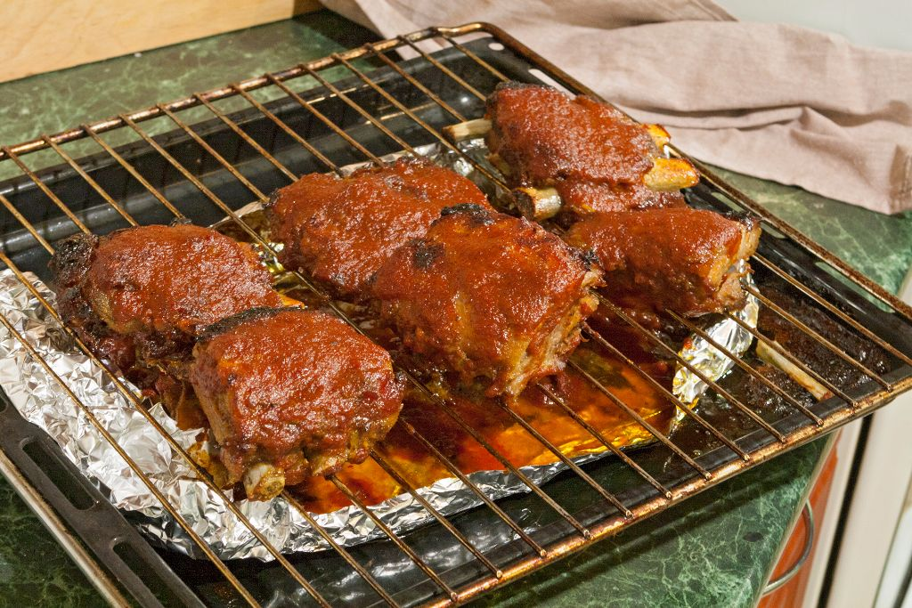 Broiling the both sides of your pork ribs