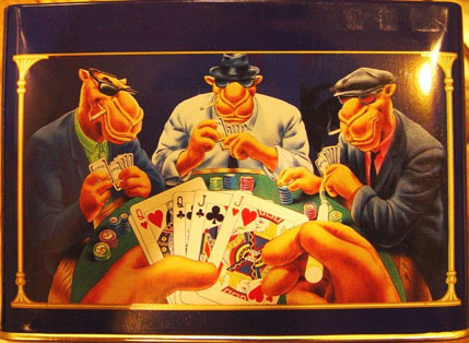Camels-Playing-Poker