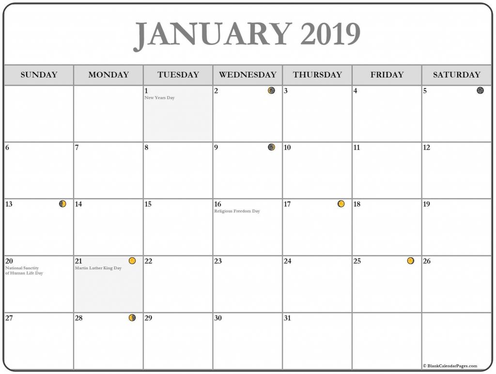Weekly Printable Calendar With Moon Phases Calendar
