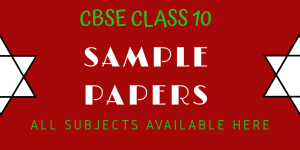 CBSE MATH SAMPLE PAPER 10th