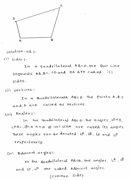 Understanding Shapes Ii Quadrilaterals Rd Sharma Class 8