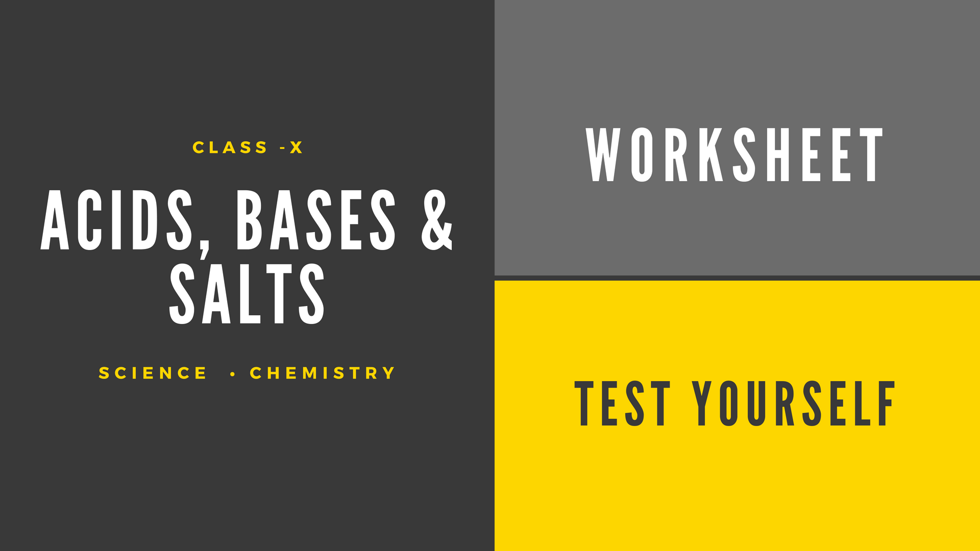 Worksheet 1: Acids, Bases and Salts | CBSE SCIENCE