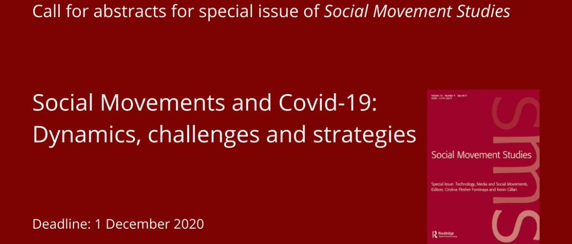 CFP: Social Movements and Covid-19: Dynamics, challenges and strategies