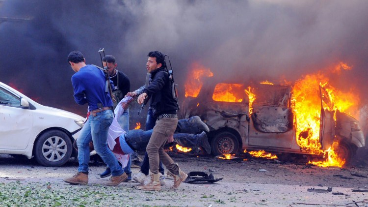Image result for Car bomb blast kills eight in Syria