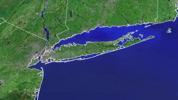 Map Suffolk County Long Island N Y