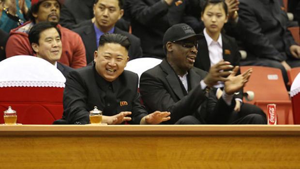 Image result for dennis rodman meeting kim jong un