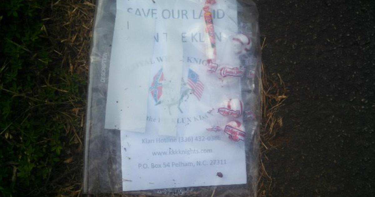 Ku Klux Klan Recruiting With Candy In South Carolina CBS