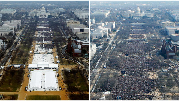 Image result for inauguration crowd size comparison