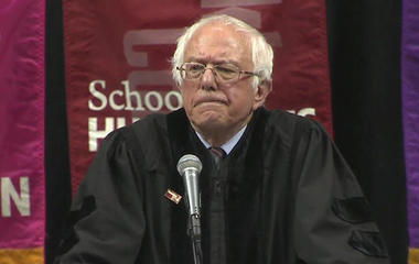 Sanders criticizes inequality, corruption in commencement speech