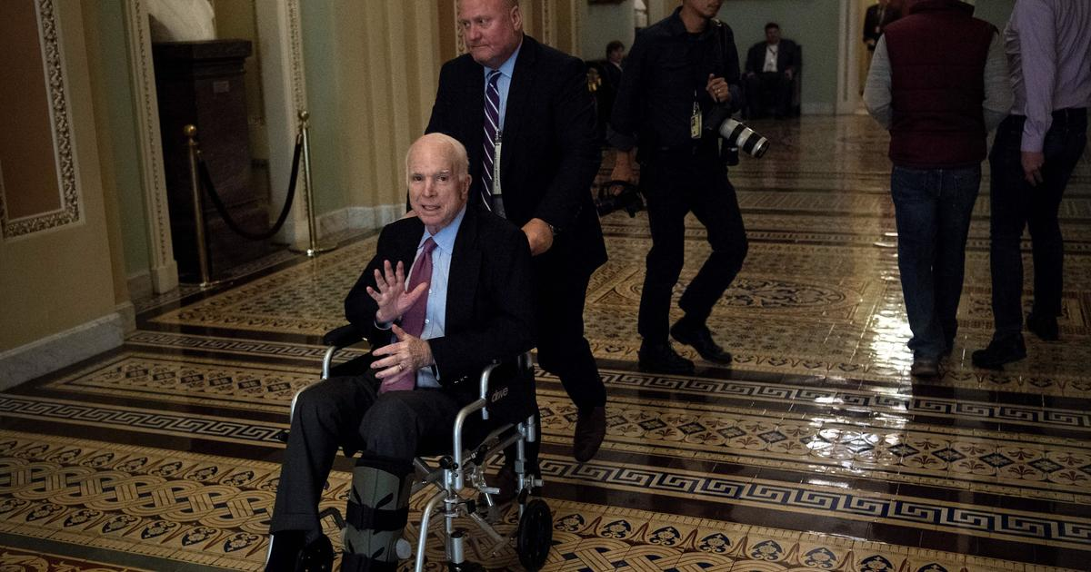 McCain back in Arizona for Christmas, will miss tax vote