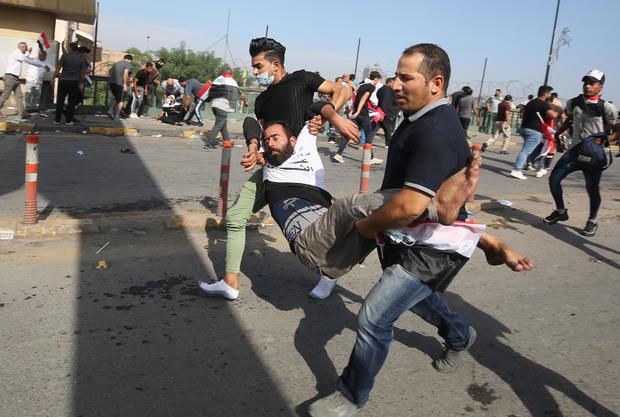 TOPSHOT-IRAQ-POLITICS-DEMO