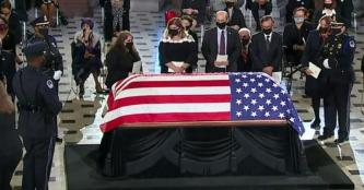 Ceremony for Ruth Bader Ginsburg lying in state at U.S. Capitol