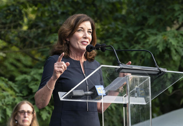 Lieutenant Governor Kathy Hochul speaks at Westchester