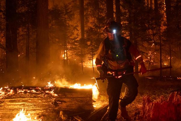 California's Caldor Fire Jumps Highway 50 Near Tahoe