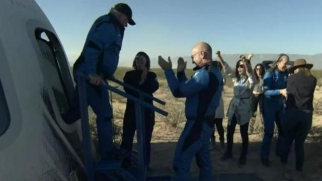 , Blue Origin's New Shepard back on Earth with civilian crew, The Evepost National News
