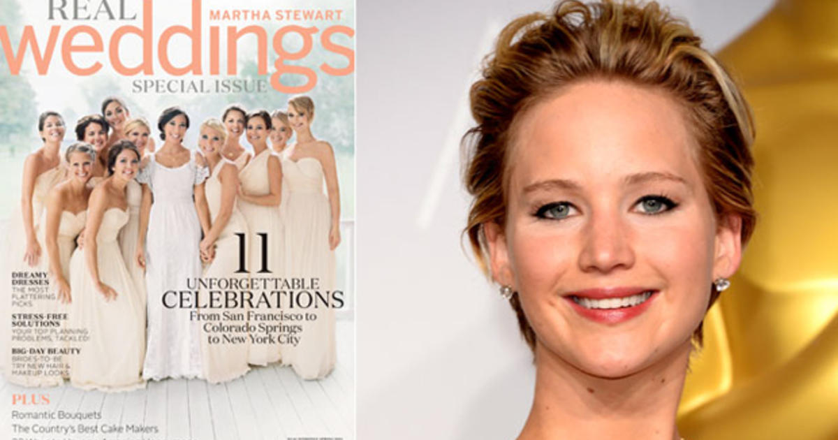 Martha Stewart Weddings Jennifer Lawrence