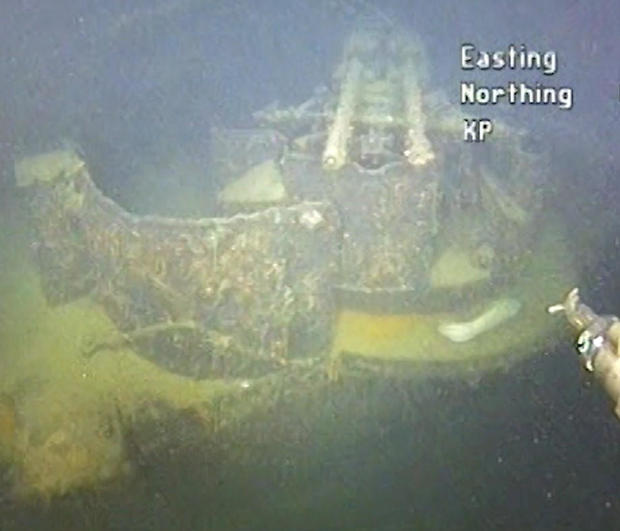 """An element of sunken German WWII warship cruiser """"Karlsruhe"""" that had been observed 13 nautical miles from Kristiansand"""