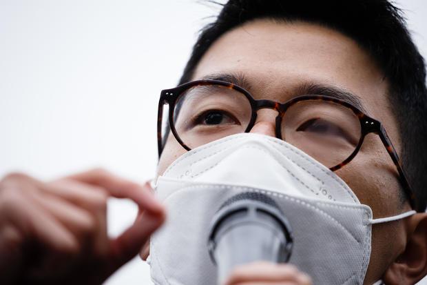 Exiled Hong Kong Pro-Democracy Activist Nathan Law Speaks At London Rally