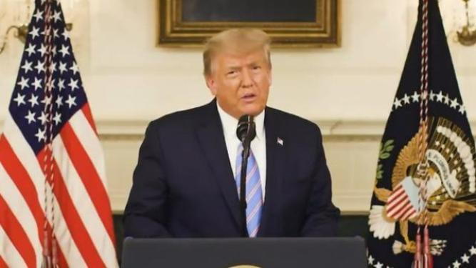 Trump acknowledges election defeat in video on Capitol violence