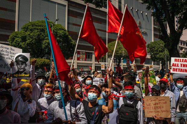 In Myanmar, protests continue despite martial law