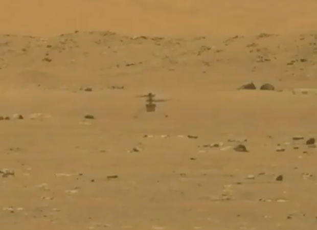 NASA's Mars helicopter Ingenuity makes its first flight
