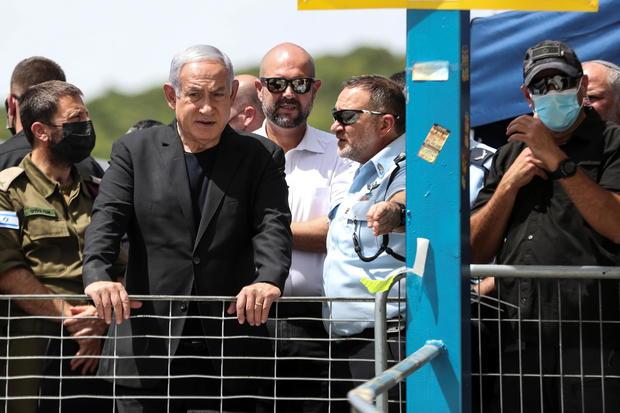 Israeli Prime Minister Benjamin Netanyahu visits Mount Meron