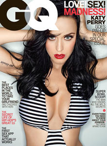 Katy Perry on the February 2014 cover of GQ magazine.