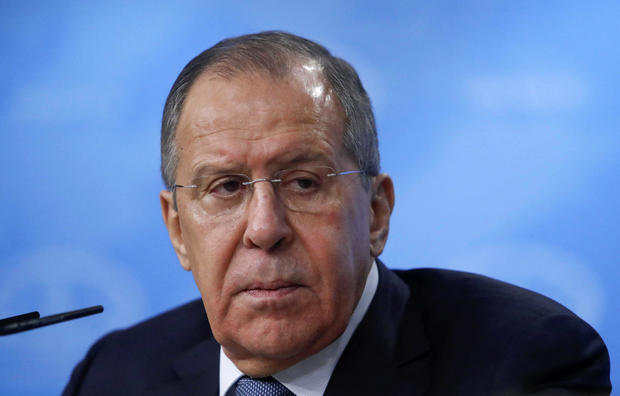 Russian Foreign Minister Sergei Lavrov attends his annual press conference in Moscow on January 15, 2018.