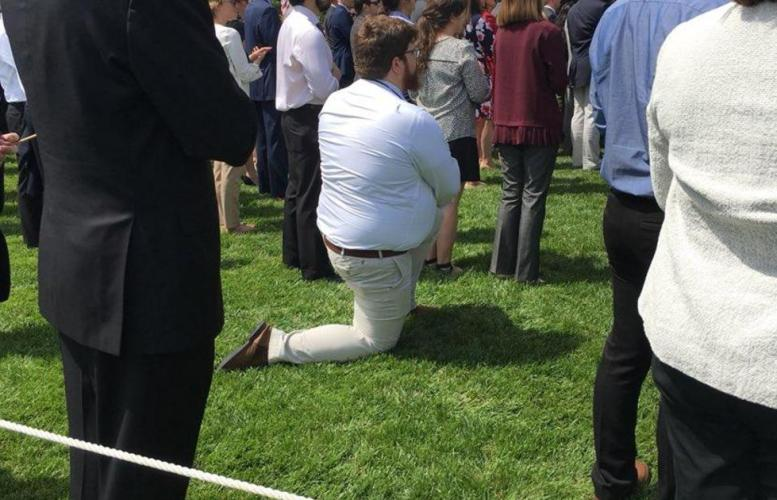 White House Lawn Kneel