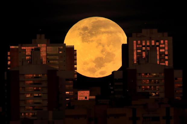 Lunar eclipse Brazil