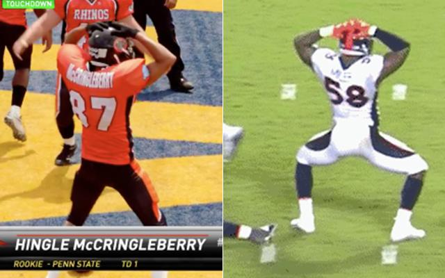 Von Miller was fined for his Key & Peele-inspired sack dance. (NFL/Comedy Central)