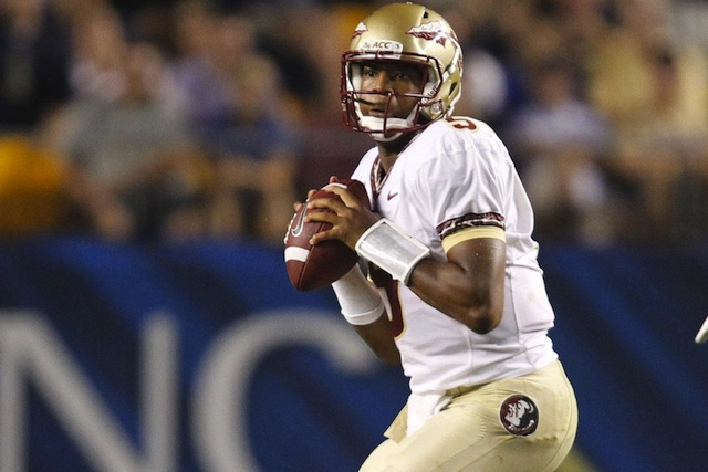 Florida State QB Jameis Winston totaled 4 touchdowns and just one incompletion first half of college football. (USATSI)