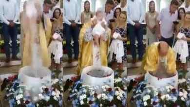 Bebé muere ahogado mientras era bautizo