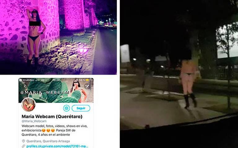 Modelo se pasea sin ropa por las calles de Querétaro