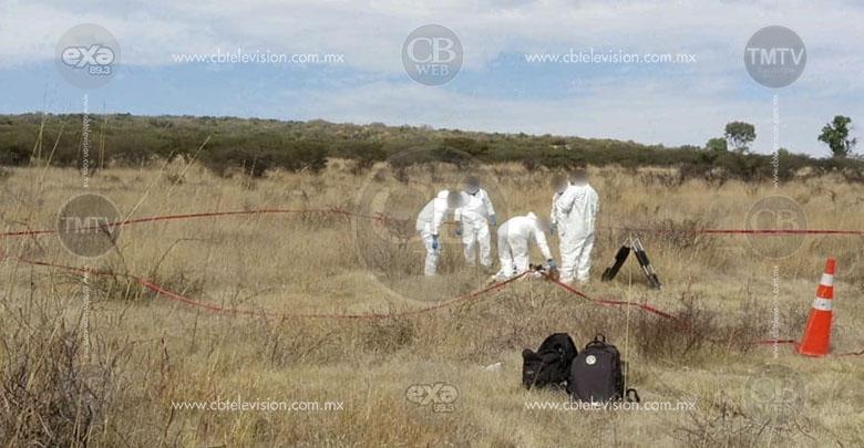 Localizan hombre quemado y muerto a balazos en Tarímbaro