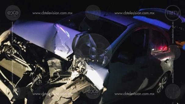 Se registra accidente vehicular en la carretera Morelia-Maravatío