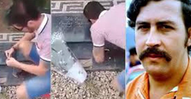 Inhaló droga en la tumba de Escobar y ahora desea nunca haberlo hecho