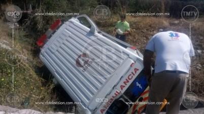 Accidente de ambulancia deja cuatro heridos en la Siglo XXI