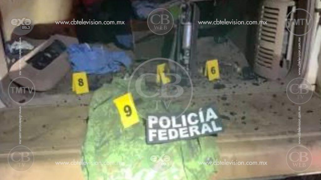 Sicarios agreden a Federales y abandonan camioneta con indumentaria militar
